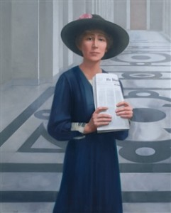 Jeannette Rankin, oil on canvas, Sharon Sprung 2004 Collection of the U.S. House of Representatives