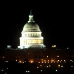 Capitol at night from Newseum roof