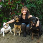 Tawny Weber & dogs 2012