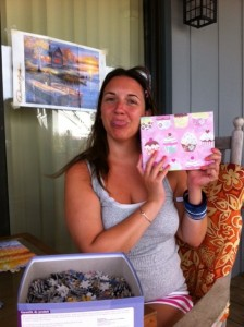Me looking lovely during last year's bday at the beach.