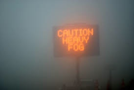 Caution Heavy Fog pic