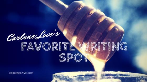Carlene Love's Favorite Writing Spot